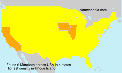 Surname Morakoth in USA