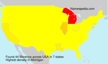 Surname Morence in USA
