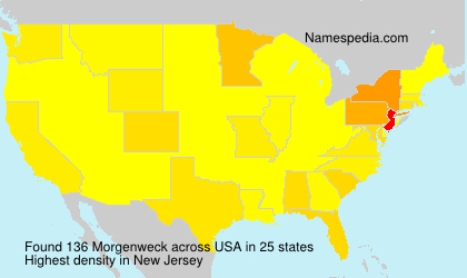 Surname Morgenweck in USA