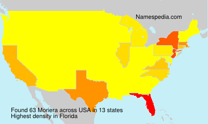 Surname Moriera in USA
