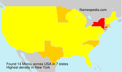 Surname Morou in USA