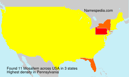 Surname Mosallem in USA
