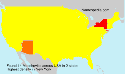 Surname Moschovitis in USA