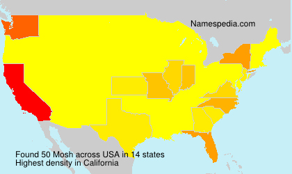 Surname Mosh in USA