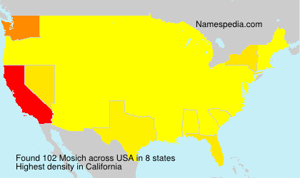 Surname Mosich in USA