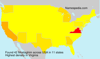 Surname Mostaghim in USA