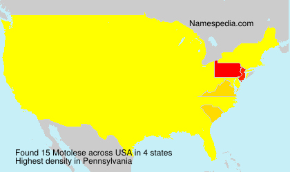 Surname Motolese in USA