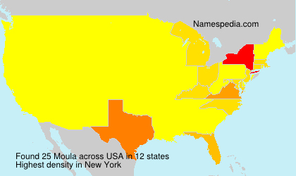 Surname Moula in USA