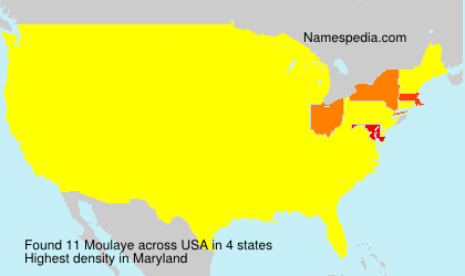 Surname Moulaye in USA