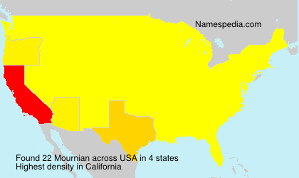 Surname Mournian in USA