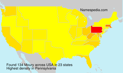 Surname Moury in USA