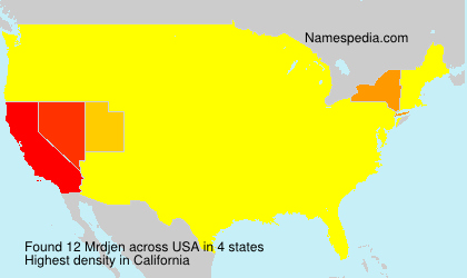 Surname Mrdjen in USA