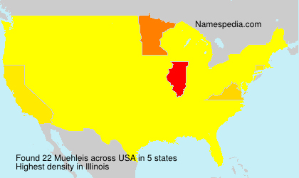 Surname Muehleis in USA