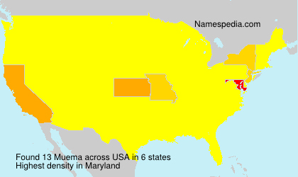 Surname Muema in USA