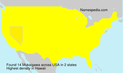 Surname Mukaigawa in USA