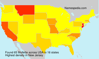 Surname Mullette in USA