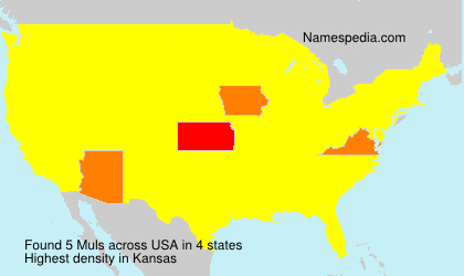 Surname Muls in USA