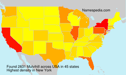 Surname Mulvihill in USA