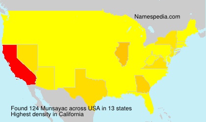 Surname Munsayac in USA