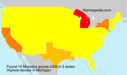 Surname Muntaha in USA