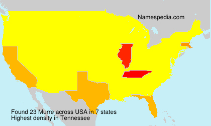 Surname Murre in USA