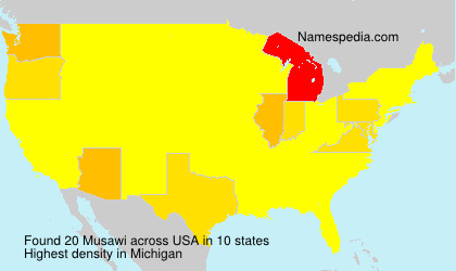Surname Musawi in USA