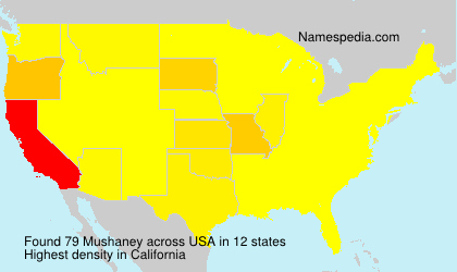 Surname Mushaney in USA
