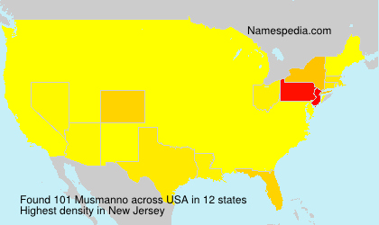 Surname Musmanno in USA