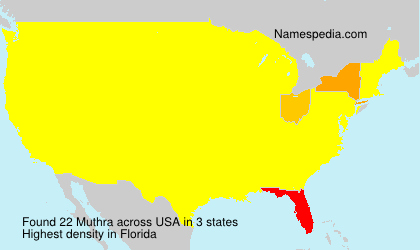 Surname Muthra in USA