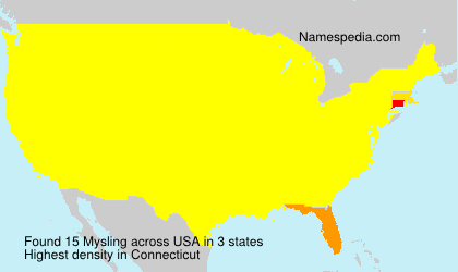 Surname Mysling in USA