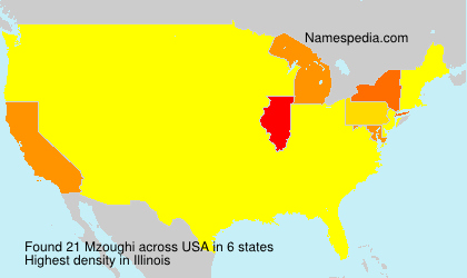 Surname Mzoughi in USA