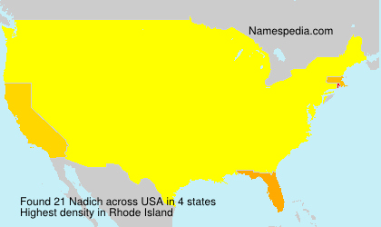 Surname Nadich in USA