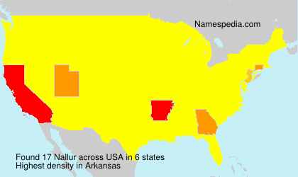 Surname Nallur in USA