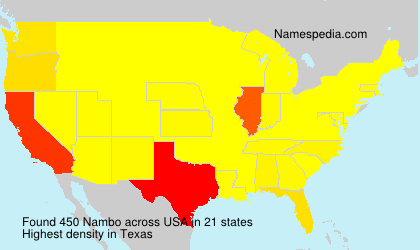 Surname Nambo in USA