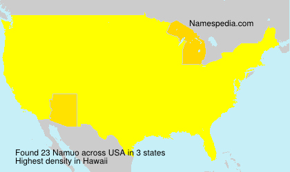 Surname Namuo in USA