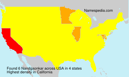 Surname Nandgaonkar in USA