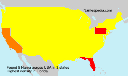 Surname Nanra in USA