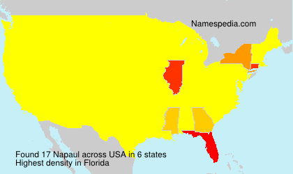 Surname Napaul in USA