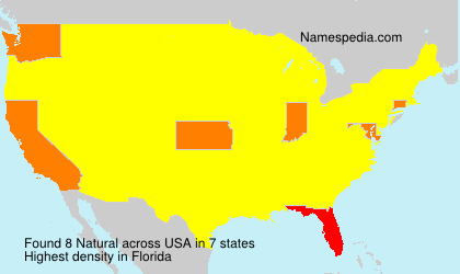 Surname Natural in USA