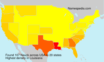 Surname Nauck in USA