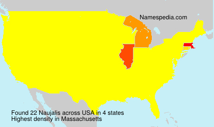 Surname Naujalis in USA