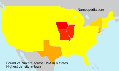 Surname Naxera in USA