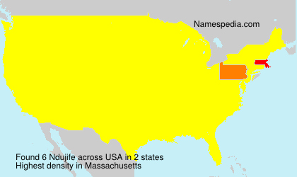 Surname Ndujife in USA