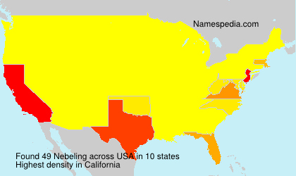 Surname Nebeling in USA