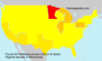 Surname Nefstead in USA