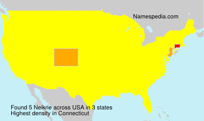 Surname Neikrie in USA