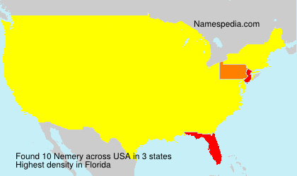 Surname Nemery in USA
