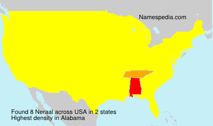 Surname Neraal in USA