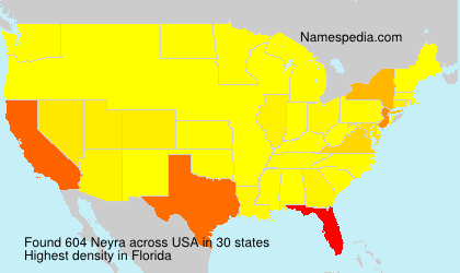 Surname Neyra in USA