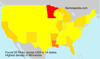 Surname Nicko in USA